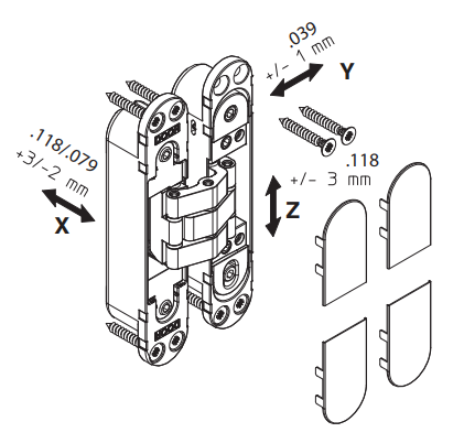 Ry-80 invisible hinge installation guide