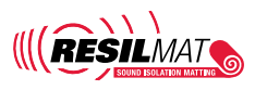 resilmat, sound isolation matting