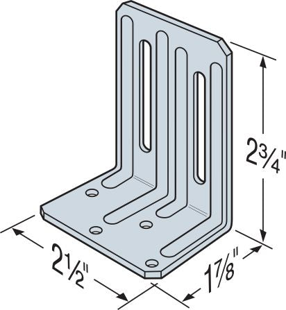 DTC 2-1/2 x 1-7/8 x 2-3/4 Roof Truss Clip (100 count) - Buildcorp Direct