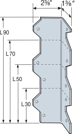 L90 9IN REINFORCING ANGLE