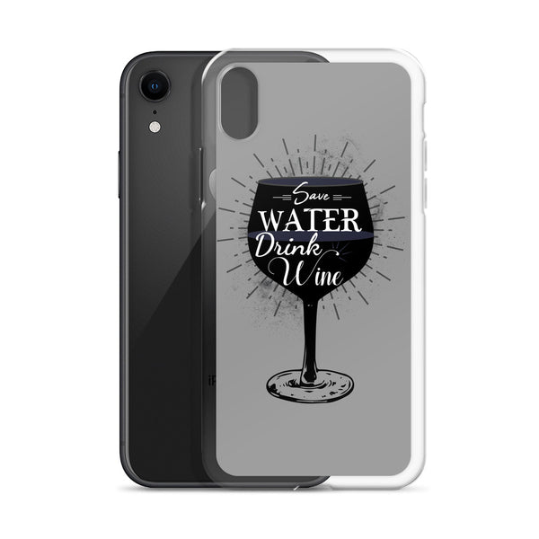 iPhone Hülle - Save Water Drink Wine