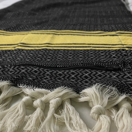Turkish Towels in black and grey colorways