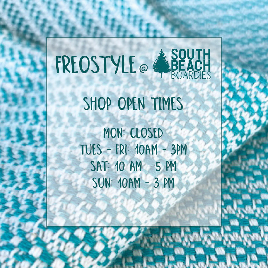 Freostyle Turkish Towels with pockets Fremantle South Beach Boardies store open times