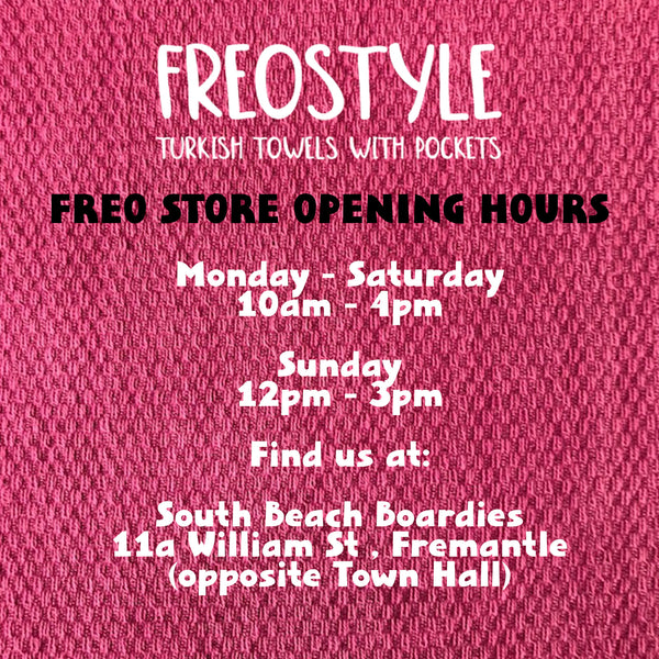 Freostyle store opening hours, find us at South Beach Boardies Fremantle store