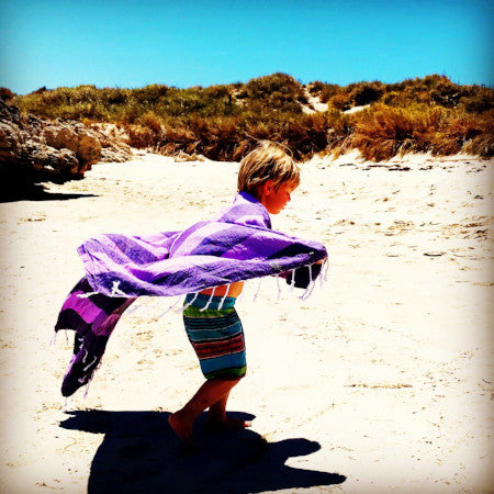 Life in Purple with Echeveria Turkish Towel, by Freostyle