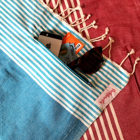 ANDAMAN POCKETOWEL, EXTRA LARGE BEACH TOWEL WITH POCKETS