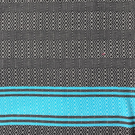 Black Sea: authentic, 100% cotton, light-weight beach towel (Turkish towel)