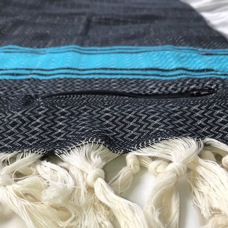 Black Sea: Turkish towel with pocket