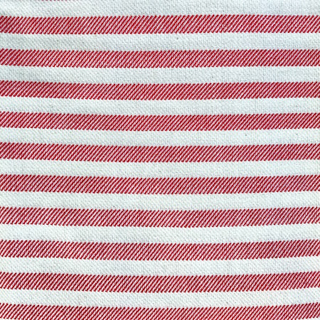 Candy Turkish Towel close up of red and cream stripes