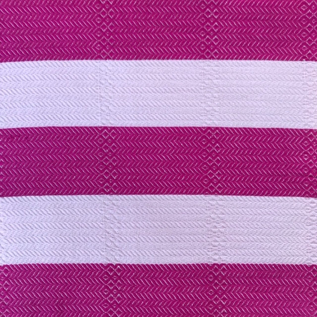 Coral is a pink on pink striped turkish towel with pocket, by Freostyle