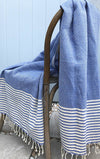 Deep Sea Turkish Towel, authentic, ethical, 100% cotton, light-weight
