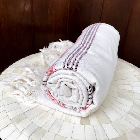 Although out longest towel, Dune Turkish Towel still rolls up very small, so it's perfect for the beach or pool (or even as a baby blanket)