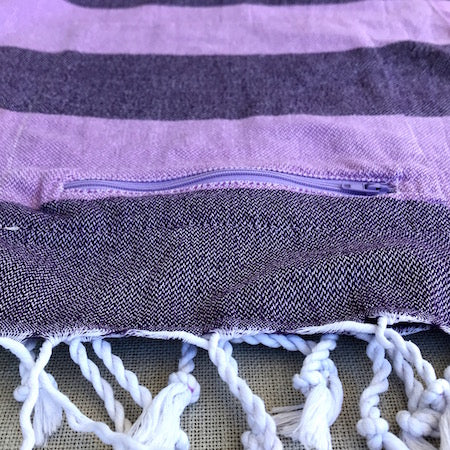 Echeveria Turkish Towel has a zip up pocket to stash your stuff
