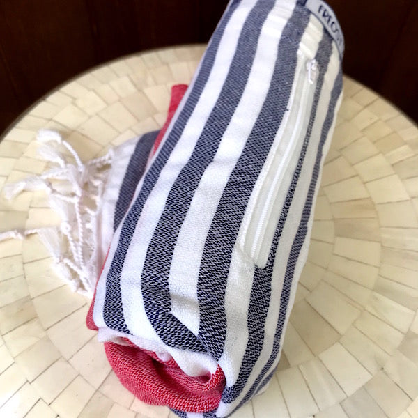 Freostyle Antibes Turkish Towel with pocket, rolled