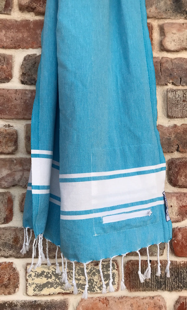 Freostyle GymTowel Blue Stripe is fast-drying and lightweight