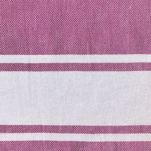 Freostyle Lilac Stripe Gym Towel with pocket, close up of weave