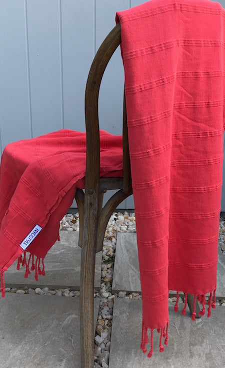 Halcyon Turkish towels, ethically made 100% cotton towel with vintage styling
