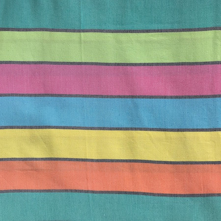 Our Happy Turkish Towel is colourful, bold, and attention-grabbing