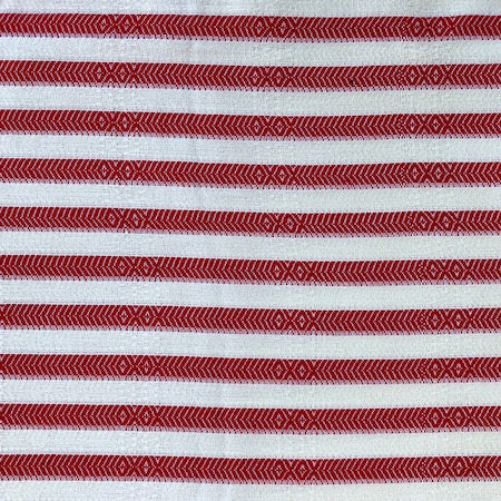 Lifesaver Turkish Towel has a striking red and white stripe bamboo and Turkish cotton weave