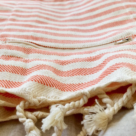 Lolly Turkish Towel close up of pocket