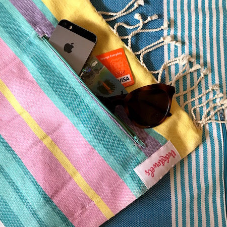 MALABAR POCKETOWEL, EXTRA LARGE BEACH TOWEL WITH POCKETS