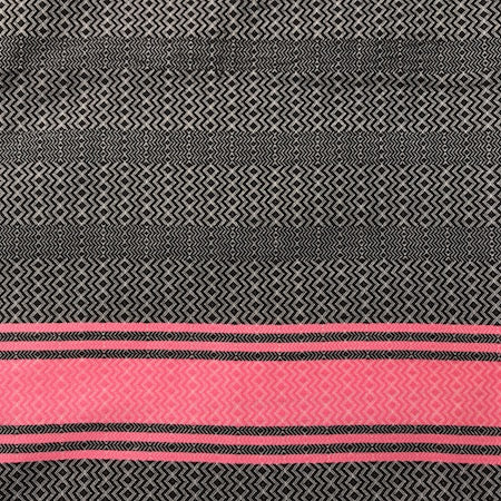 Pinky: black-based Turkish towel - stylish, ethical and 100% cotton