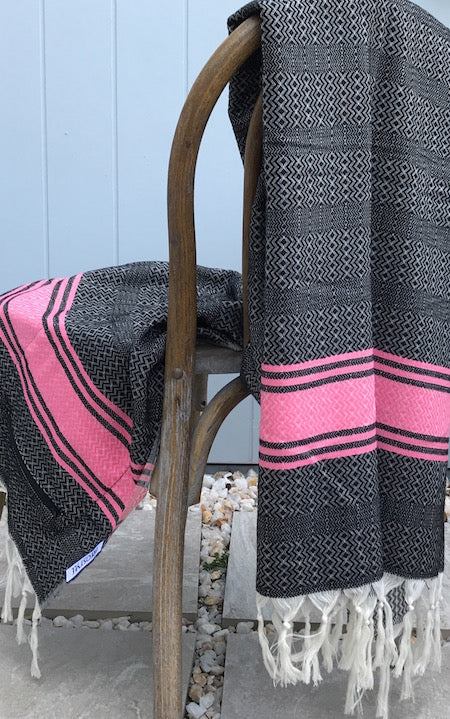 Pinky Beach Turkish Towel with pocket