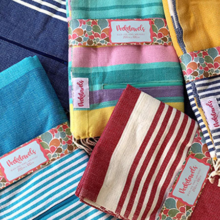 Pocketowels are hip-pocket friendly, large beach towels with pockets