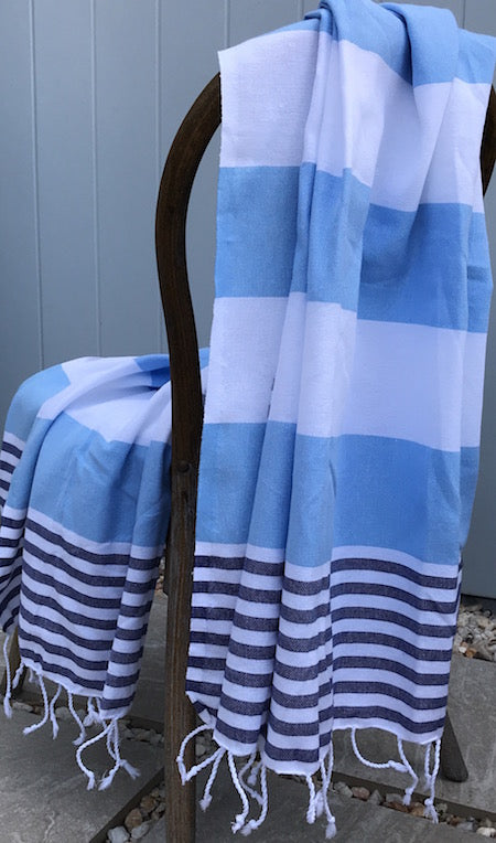 Stylish Seafarer Turkish towel is ethically made, 100% cotton