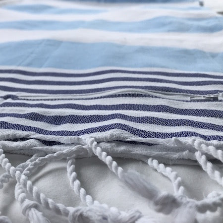Seafarer turkish towels have handy hidden pocket to stash your stuff