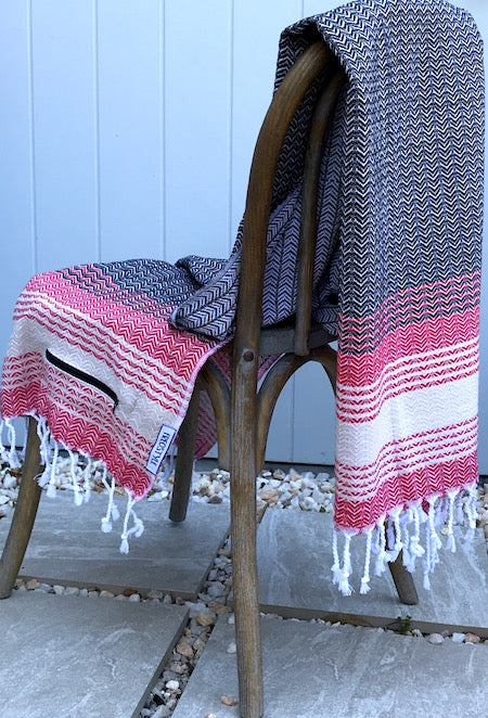 Sun-Kissed Turkish Towel, displayed