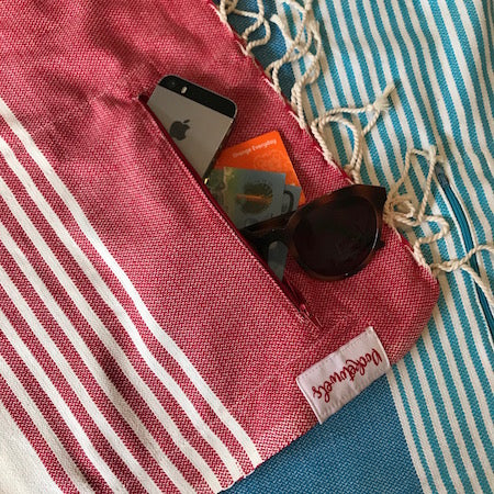 VARKALA POCKETOWEL, EXTRA LARGE BEACH TOWEL WITH POCKETS