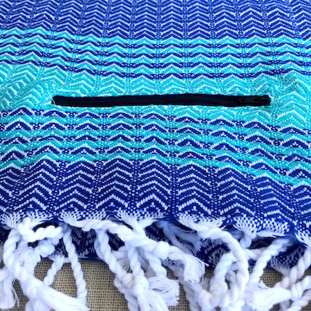 Waves Turkish Towel has a convenient zip up pocket