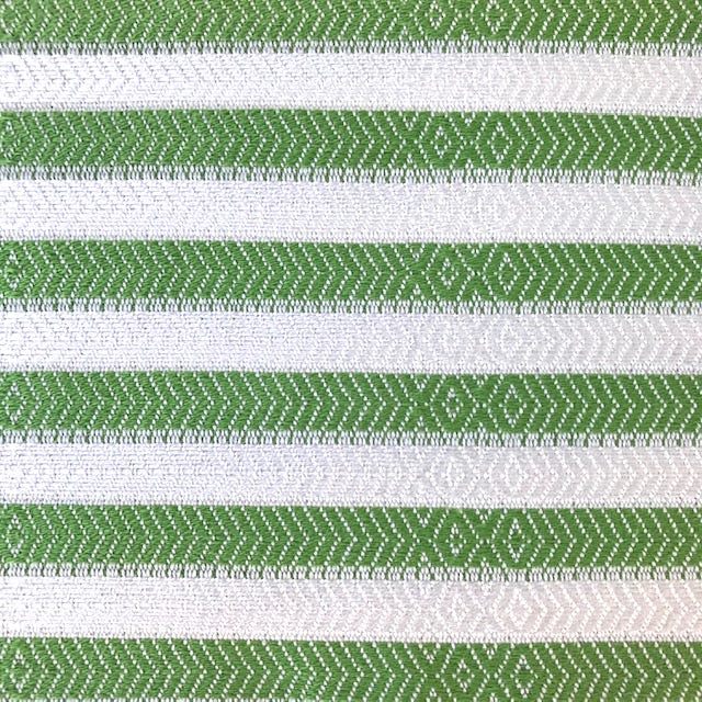 Freostyle Kelp green striped 70% bamboo Turkish Towel with pocket, close up