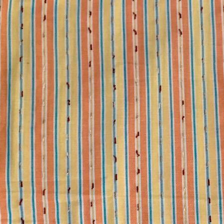 Sunset Stripe Turkish Towel with pocket, 100% cotton fabric close up