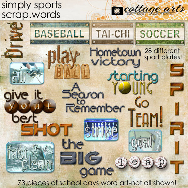 Simply Sports Scrap.Words