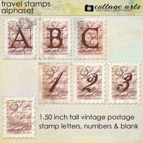 Travel Stamps AlphaSet