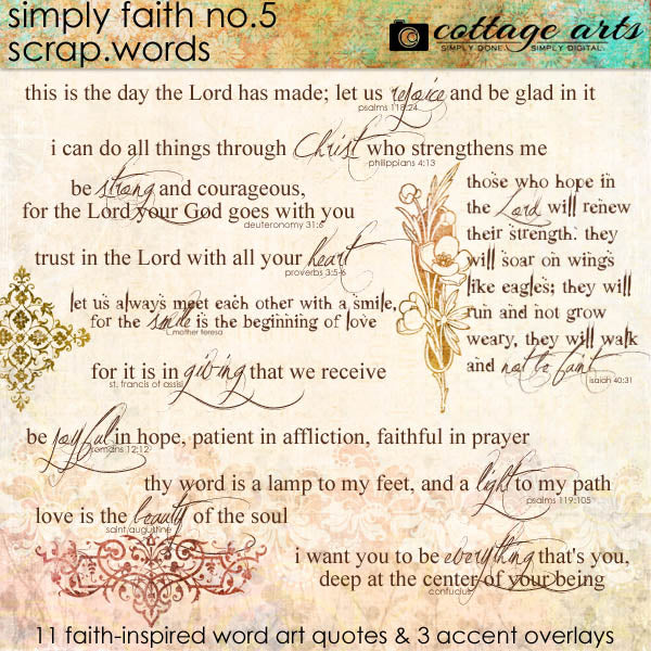 Simply Faith 5 Scrap.Words