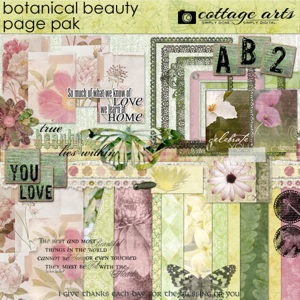 Botanical Beauty Page Pak
