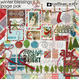 Winter Blessings Page Pak