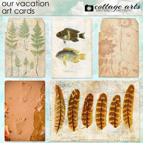 Our Vacation Art Cards
