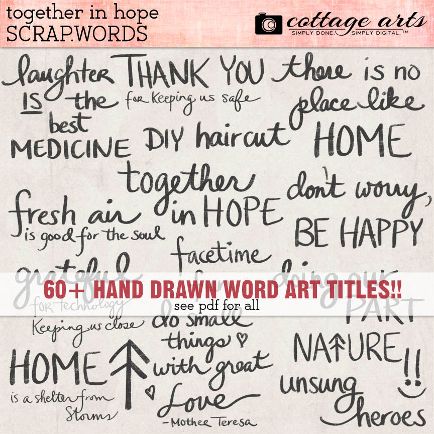 Together in Hope Scrap.Words