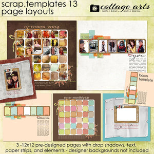 Scrap Templates 13 - Page Layouts