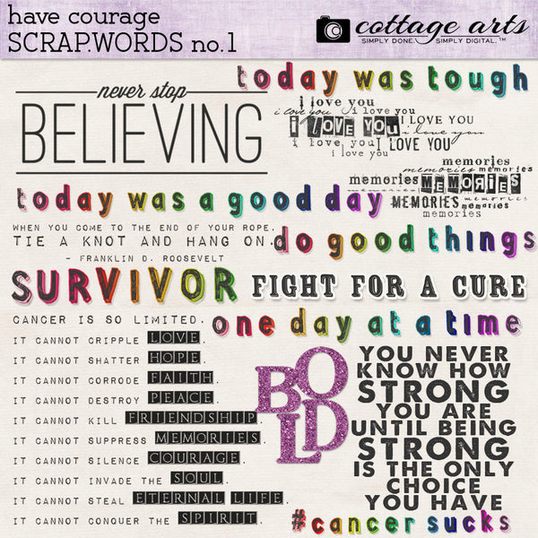 Have Courage Scrap.Words 1