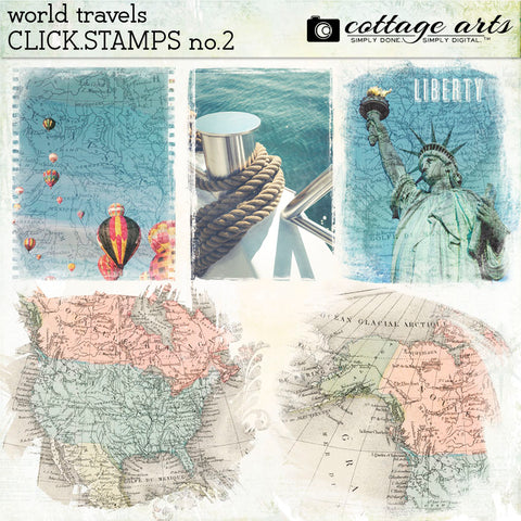 World Travels Click.Stamps 2