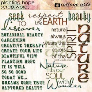Planting Hope Scrap.Words