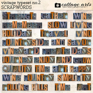 Vintage Typeset 2 Scrap.Words
