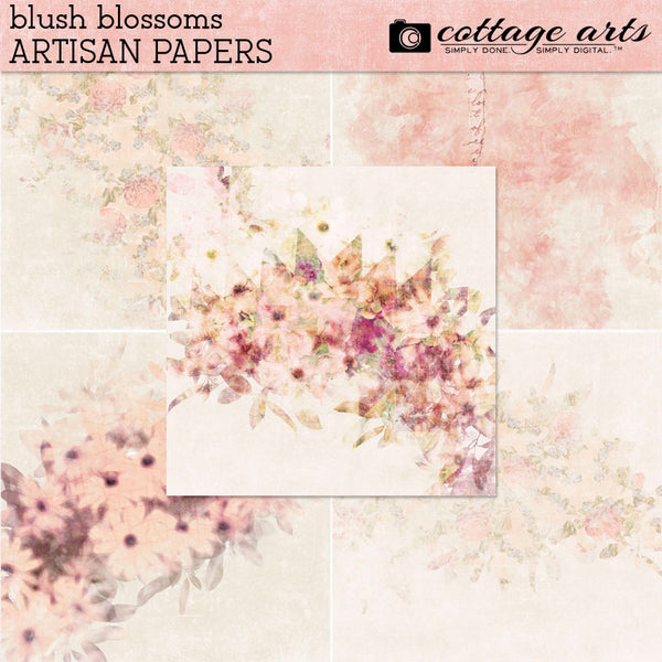 Blush Blossoms Artisan Papers