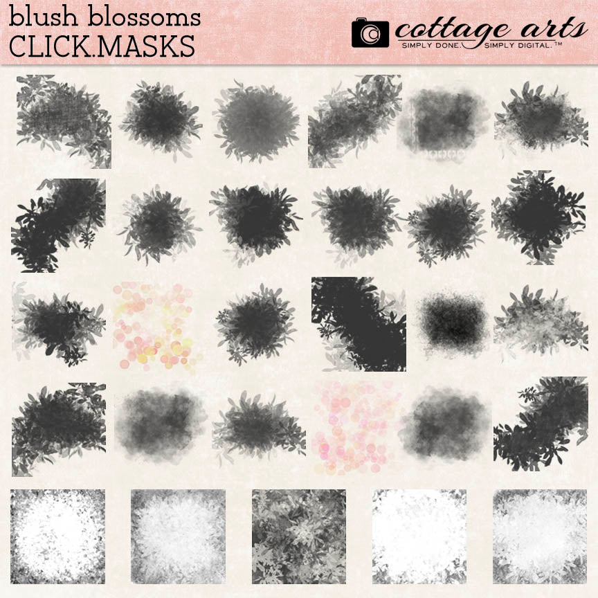 Blush Blossoms Click.Masks