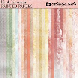 Blush Blossoms Painted Papers